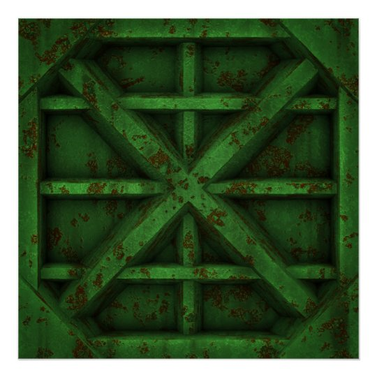Rusty Container - Green - Poster