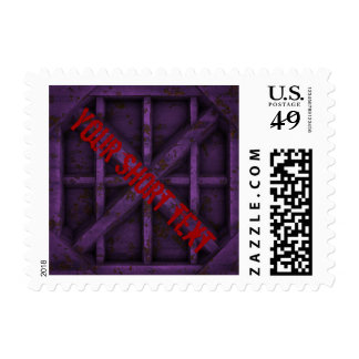 Rusty Container - pink - Postage Stamp