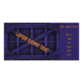 Rusty Container - Purple - Custom Photo Card