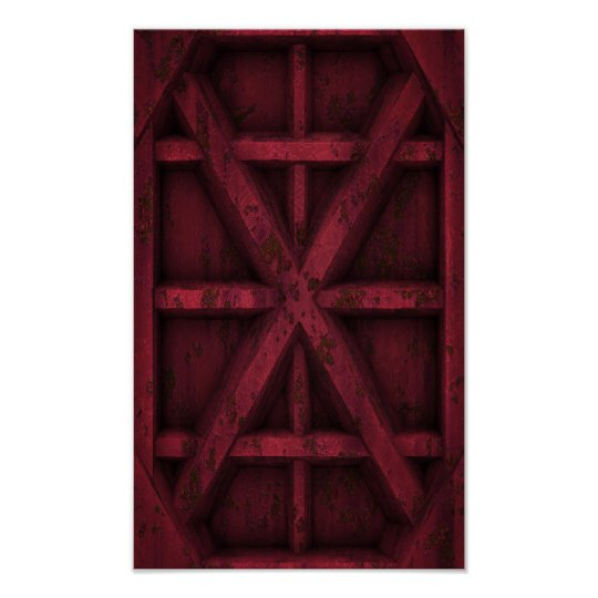 Rusty Container - Red - Poster