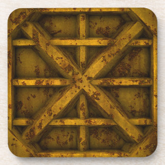 Rusty Container - Yellow - Beverage Coaster