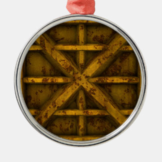Rusty Container - Yellow - Metal Ornament