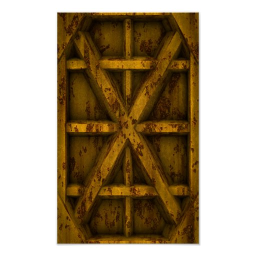 Rusty Container - Yellow - Poster
