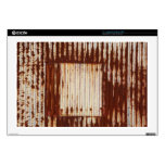 Rusty corrugated iron laptop decals