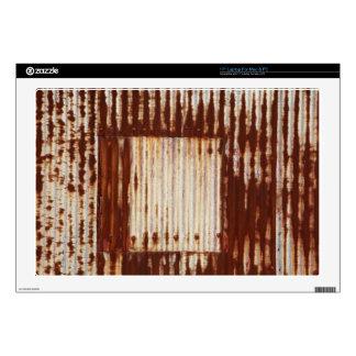 Rusty corrugated iron laptop decals