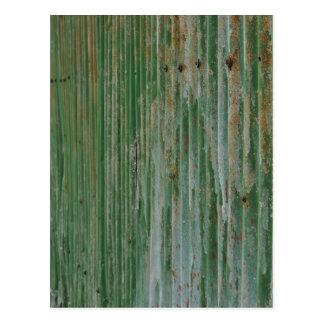Rusty corrugated iron postcard