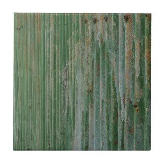 Rusty corrugated iron tiles