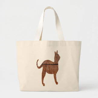 Rusty Corrugated Tin Roof Cat Tote Bag