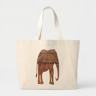 Rusty Corrugated Tin Roof Elephant Bag