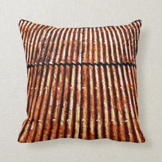 Rusty Corrugated Tin Roof Pillow
