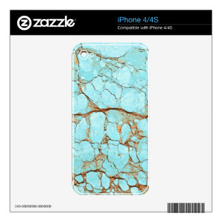 Rusty Cracked Turquoise iPhone 4S Decals