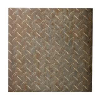 Rusty Diamond Plate Tiles