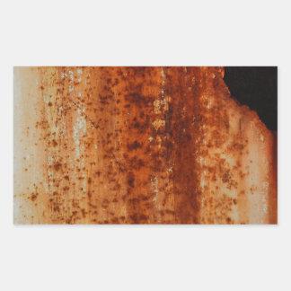 Rusty distressed artistic grunge background rectangular sticker