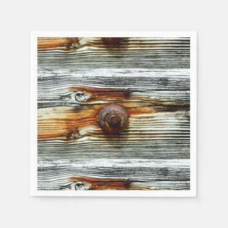 rusty driftwood boards Thunder_Cove Paper Napkin