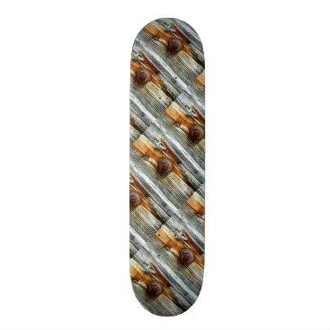 Beach Themed rusty driftwood boards Thunder_Cove Skateboard