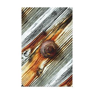 rusty driftwood dock board canvas print