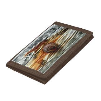 rusty driftwood grey board trifold wallet