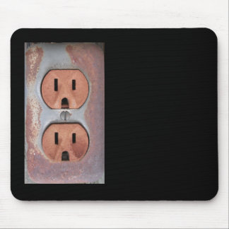 Rusty Electrical Outlet Mouse Pad