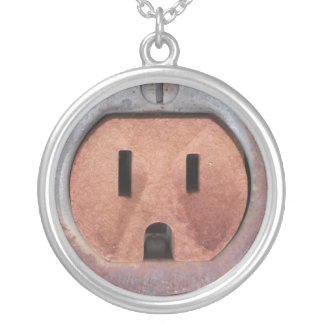 Rusty Electrical Outlet Necklace