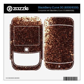 Rusty Emboss BlackBerry Curve Skin