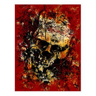 Rusty Eroded Skull Postcard
