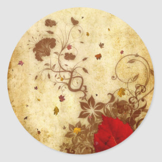 Rusty Fall Classic Round Sticker