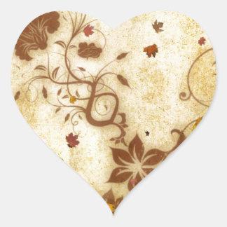 Rusty Fall Heart Sticker
