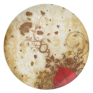 Rusty Fall Party Plates