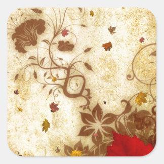 Rusty Fall Square Sticker