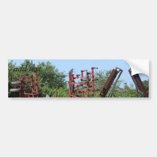 Rusty Farm Equipment Roadside Car Bumper Sticker