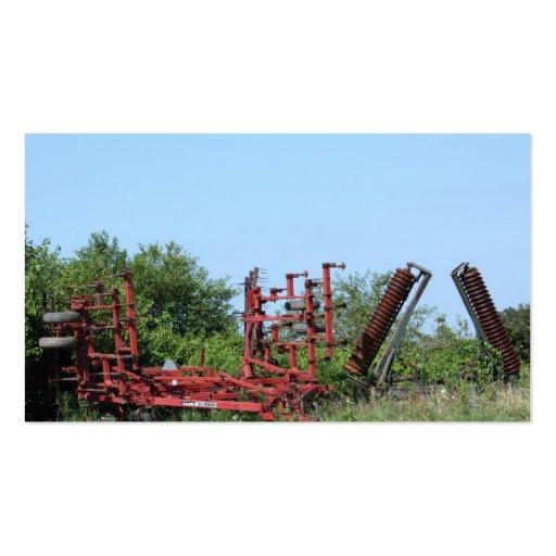 Rusty Farm Equipment Roadside Business Cards