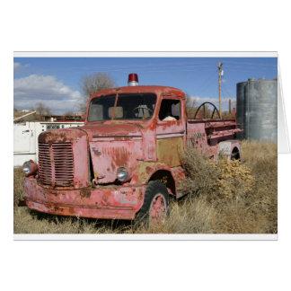 Rusty Fire Truck Greeting Card