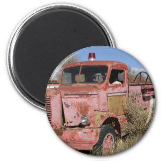 Rusty Fire Truck Fridge Magnet