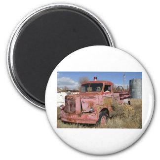 Rusty Fire Truck Refrigerator Magnets