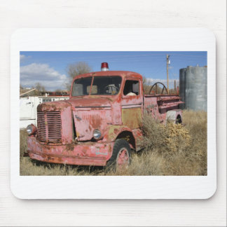 Rusty Fire Truck Mouse Pad