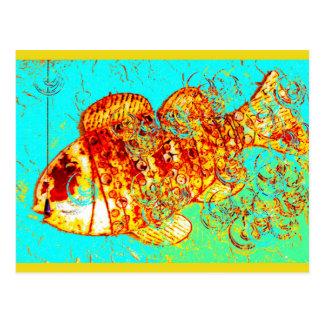 Rusty Fish Postcard
