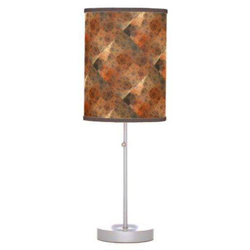 Rusty Fractal Pattern Lamps