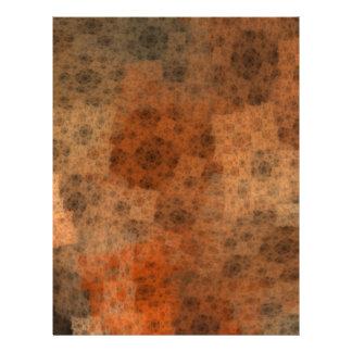 Rusty Fractal Pattern Letterhead