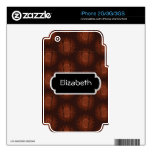 Rusty Gears Abstract Pattern Monogram Phone Skin iPhone 3G Decals