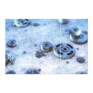 Rusty gears, cogs & sprockets. canvas print