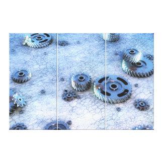 Rusty gears, cogs & sprockets. canvas print