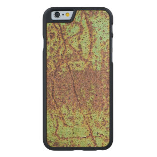 Rusty green look carved maple iPhone 6 slim case