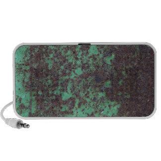 Rusty Green Metal Texture Portable Music Speaker