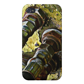 Rusty Hydraulic Tractor Hoses iPhone 4 Cases