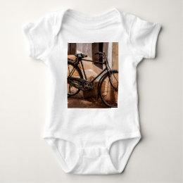 Rusty Indian Bicycle Baby Bodysuit