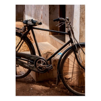 Rusty Indian Bicycle Postcard