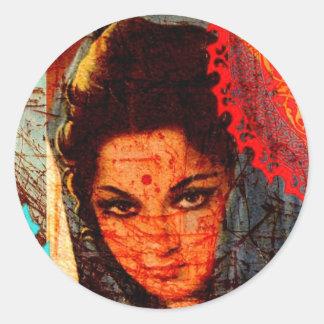 Rusty Indian Classic Round Sticker