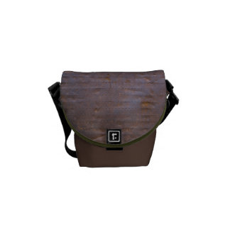 Rusty Iron Texture Background Courier Bag
