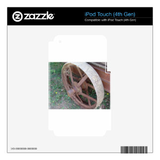 Rusty iron wheel of old cart skin for iPod touch 4G