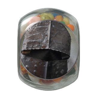 Rusty Knight Glass Candy Jars